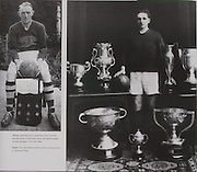 left: Legendary Kerry goalkeeper Dan O'Keeffe proudly shows of the seven senior All-Ireland medals he won between 1932 and 1946. .right: John Joe Sheehy captained Kerry winning teams in 1926 and 1930.