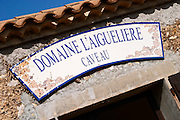 Domaine l'Aigueliere. Montpeyroux. Languedoc. The wine shop and tasting room. France. Europe.