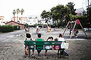Un giardino pubblico nel quartiere Tamburi. Christian Mantuano/OneShot
