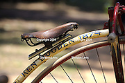 Penny-farthing bicycle seat. 2009 Guildford Heritage Festival, Western Australia