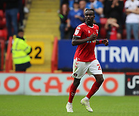 LONDON, ENGLAND - SEPTEMBER 25: Pape Souaré of Charlton Athletic during the Sky Bet League One match between Charlton Athletic and Portsmouth at The Valley on September 25, 2021 in London, England. (Photo by Ben Peters/MB Media)