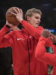 November 21, 2017 - Los Angeles, California, United States of America - Lauri Markkanen #24 of the Chicago Bulls during warm ups prior to their game with the Los Angeles Lakers on Tuesday November 21, 2017 at the Staples Center in Los Angeles, California. Lakers defeat Bulls, 103-94. JAVIER ROJAS/PI (Credit Image: © Prensa Internacional via ZUMA Wire)