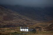 Ardvergnish farmhouse (c1800) near Pennyghael, Isle of Mull, Scotland.