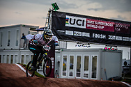 #996 (KRIGERS Kristens) LAT [Staystrong] at Round 7 of the 2019 UCI BMX Supercross World Cup in Rock Hill, USA