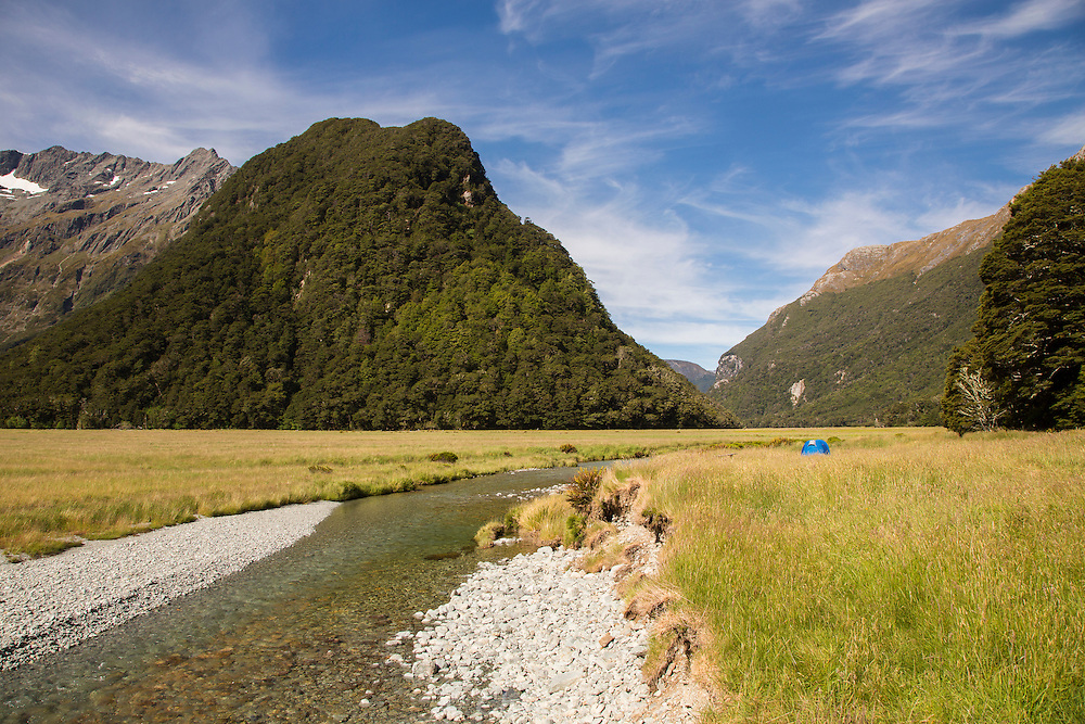 View from the Routeburn Track, South Island, New Zealand