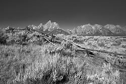 Buckrail Fence, Grand Tetons, Grand Teton National Park, Jackson Hole, Wyoming