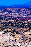Overview of Highway 12, near Escalante, Utah USA