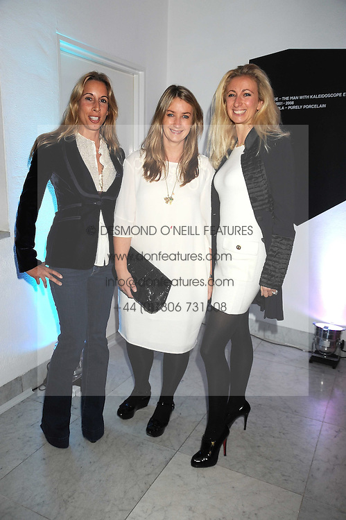 Left to right, HAYLEY SIEFF, ANYA HINDMARSH and JENNY HALPERN-PRINCE at an exhibition of work by Alan Aldridge held at the Design Museum, Shad Thames, London on 13th October 2008.