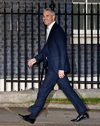 © Licensed to London News Pictures. 07/01/2019. London, UK. Brexit Secretary Stephen Barclay arriving in Downing Street to attend a drinks reception in Number 10. British Prime Minister Theresa May is currently trying to persuade MPs to back her Brexit withdrawal deal. MPs will be debating the issue this week, with the postponed vote taking place on Tuesday 15th January. Photo credit : Tom Nicholson/LNP