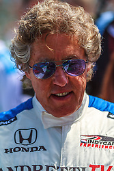 LONG BEACH, CA - APRIL 13 Roger Daltrey, singer, musician, songwriter and actor, who is best known as the founder and lead singer of English rock band The Who.  Attends the 2014 Toyota Grand Prix of Long Beach. Roger rode a double seater indycar driven by racing legend Mario Andretti during the opening ceremonies. 2014 April 13. Byline, credit, TV usage, web usage or linkback must read SILVEXPHOTO.COM. Failure to byline correctly will incur double the agreed fee. Tel: +1 714 504 6870.