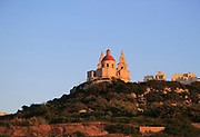 Church of our Lady of Victory, Mellieha, Malta at sunset