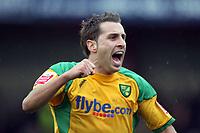 Photo: Rich Eaton.<br /> <br /> Tamworth FC v Norwich City. The FA Cup. 06/01/2007. Darren Huckerby of Norwich celebrates his first half goal to make the score 2-0