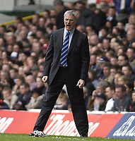 Picture: Henry Browne.Digitalsport<br /> Date: 03/04/2004.<br /> Tottenham Hotspur v Chelsea FA Barclaycard Premiership.<br /> <br /> Claudio Ranieri gets angry.