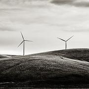 A group wind turbines.