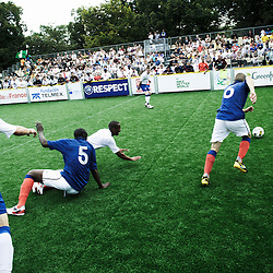 PARIS, FRANCE. AUGUST 23, 2011. The French homeless team playing against England at the Homeless World Cup. Photo: Antoine Doyen