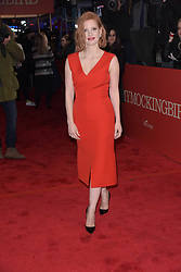 """Jessica Chastain at the Broadway opening of """"To Kill A Mockingbird"""" in New York City."""
