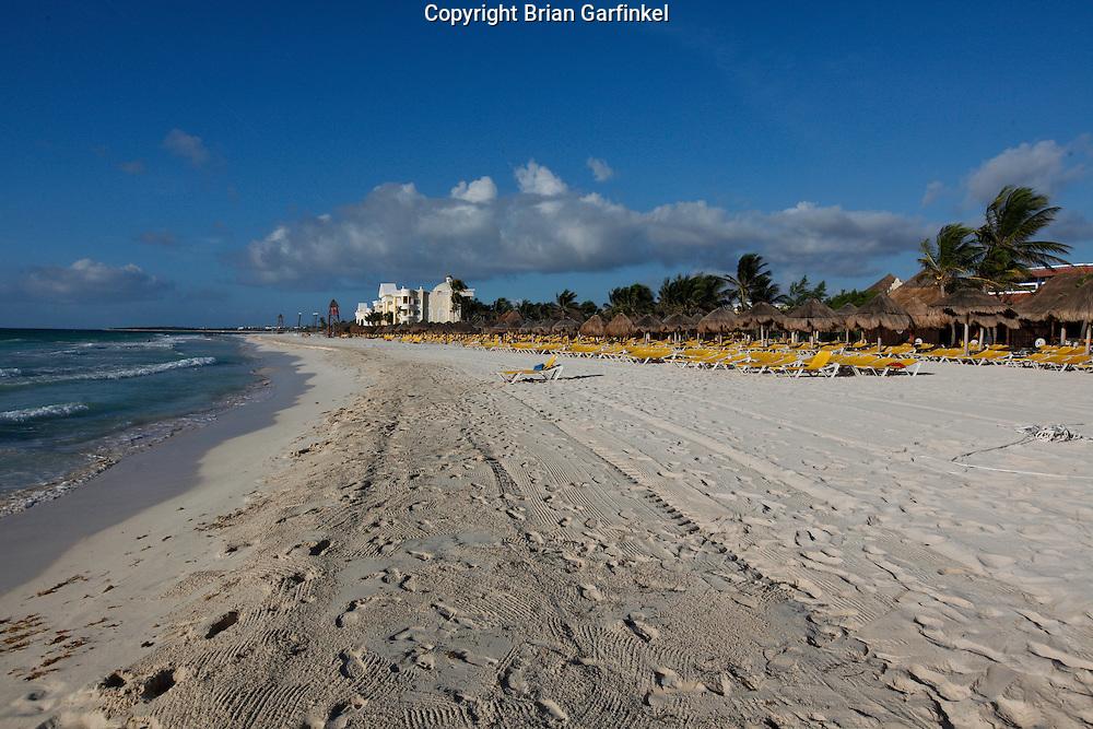 The beach at the Iberostar Del Mar resort in Rivera Maya, Mexico
