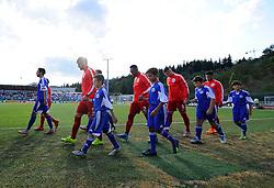 England players walk out  - Mandatory byline: Joe Meredith/JMP - 07966386802 - 05/09/2015 - FOOTBALL- INTERNATIONAL - San Marino Stadium - Serravalle - San Marino v England - UEFA EURO Qualifers Group Stage