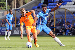 Colchester United's Joe Edwards in action with Jermaine Anderson of Peterborough United - Mandatory byline: Joe Dent/JMP - 07966386802 - 15/08/2015 - FOOTBALL - ABAX Stadium -Peterborough,England - Peterborough United v Colchester United - Sky Bet League One