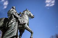 NEW YORK  2020V10<br /> <br /> Preseident Theodore Roosevelt står staty utanför Naturhistoriska museet.<br /> <br /> Foto: Per Danielsson/Projekt.P