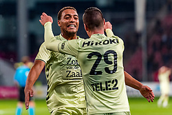 27-09-2018 NED: FC Utrecht - MVV Maastricht, Utrecht<br /> First round Dutch Cup stadium Nieuw Galgenwaard / Nick Venema #29 of Utrecht scores the 2-0, Cyriel Dessers #11 of FC Utrecht