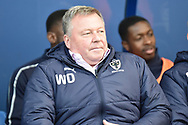 AFC Wimbledon manager Wally Downes during the EFL Sky Bet League 1 match between Oxford United and AFC Wimbledon at the Kassam Stadium, Oxford, England on 13 April 2019.