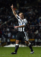 Fotball<br /> UEFA-cup 2004/05<br /> Newcastle v Heerenveen<br /> 24. februar 2005<br /> Foto: Digitalsport<br /> NORWAY ONLY<br /> Newcastle's Alan Shearer celebrates scoring his team's second goal