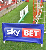 Sky Bet branding around the goal<br /> <br /> Photographer Dave Howarth/CameraSport<br /> <br /> The EFL Sky Bet League One - Fleetwood Town v Coventry Town - Saturday 3 September 2016 - Highbury Stadium - Fleetwood<br /> <br /> World Copyright © 2016 CameraSport. All rights reserved. 43 Linden Ave. Countesthorpe. Leicester. England. LE8 5PG - Tel: +44 (0) 116 277 4147 - admin@camerasport.com - www.camerasport.com