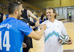 Sebastjan Cimerotic and Gregor Zidan during football and basketball charity event All Legends by Olimpiki, on June 9, 2015 in Hala Tivoli, Ljubljana, Slovenia. Photo by Vid Ponikvar / Sportida