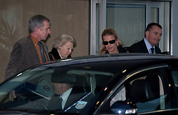 © London News Pictures. 03/03/2012. London, UK. Queen Beatrix of the Netherlands (second left) and Princess Mabel  (second right) leaving The Wellington Hospital in London hand in hand today (02/03/2012) after visiting Prince Friso at His Hospital bed. Prince Johan Friso, who has been in a coma since a skiing accident two weeks ago, has been flown from Austria to the London Hospital. Photo credit : Ben Cawthra/LNP