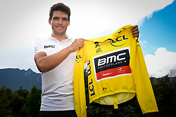 July 16, 2018 - Aix-Les-Bains, FRANCE - Belgian Greg Van Avermaet of BMC Racing poses for the photographer with the yellow jersey of overal leader during the first rest day in the 105th edition of the Tour de France cycling race, in Aix-les-Bains, France, Monday 16 July 2018. This year's Tour de France takes place from July 7th to July 29th. BELGA PHOTO DAVID STOCKMAN (Credit Image: © David Stockman/Belga via ZUMA Press)