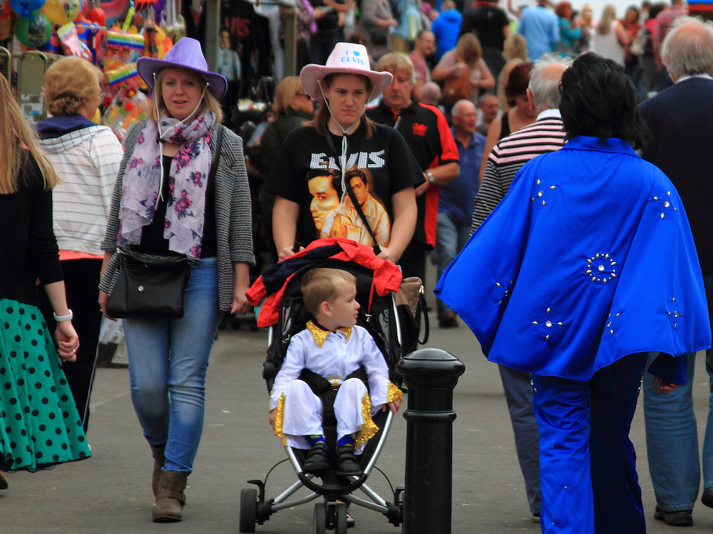 """""""You looking at me?"""" Each year the South Wales seaside town of Porthcawl is home to the Elvis Festival"""