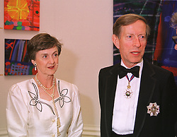 SIR JOHN & LADY WESTON, he is former British Permanent Representative to the United Nations, at a dinner in London on 1st June 1999.MSR 5