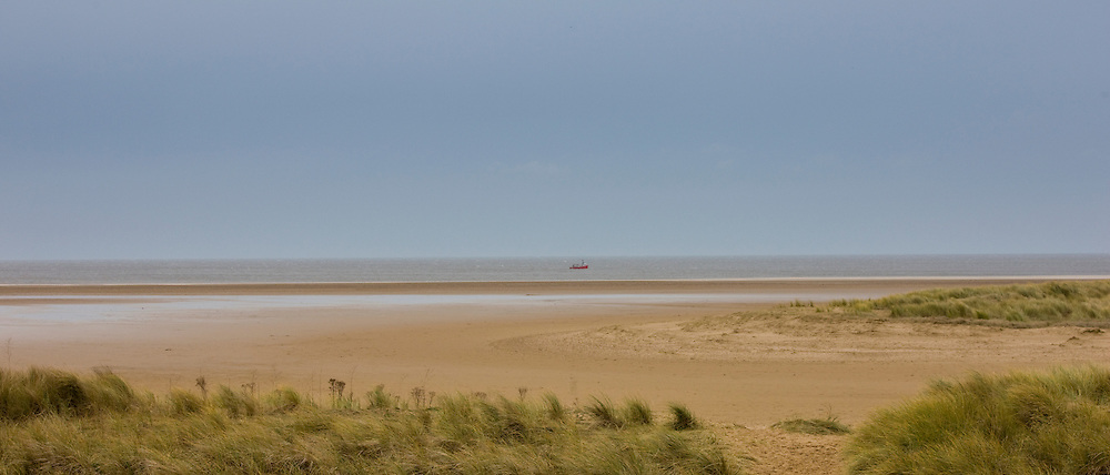 Winter scene at Holkham beach, North Norfolk, UK