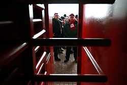 Fans stuck outside the stadium due to a power cut prior to the Premier League match at the bet365 Stadium, Stoke.