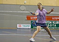 Maja Tvrdy at Slovenian national championship in badminton, on February 4, 2012, in Zg. Kungota, Slovenia. (Photo by Grega Valancic / Sportida)