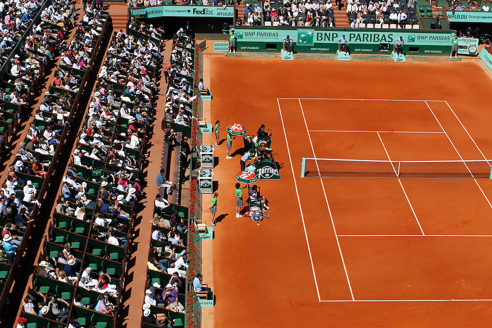 Roland Garros 2011. Paris, France. May 28th 2011..During the game opposing Mardy FISH and Gilles SIMON