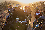 Hundreds of Mexican cowboys begin a day long ride at sunrise during the annual Cabalgata de Cristo Rey pilgrimage January 5, 2017 in San Jose del Rodeo, Guanajuato, Mexico. Thousands of Mexican cowboys and horse take part in the three-day ride to the mountaintop shrine of Cristo Rey stopping along the way at shrines and churches.