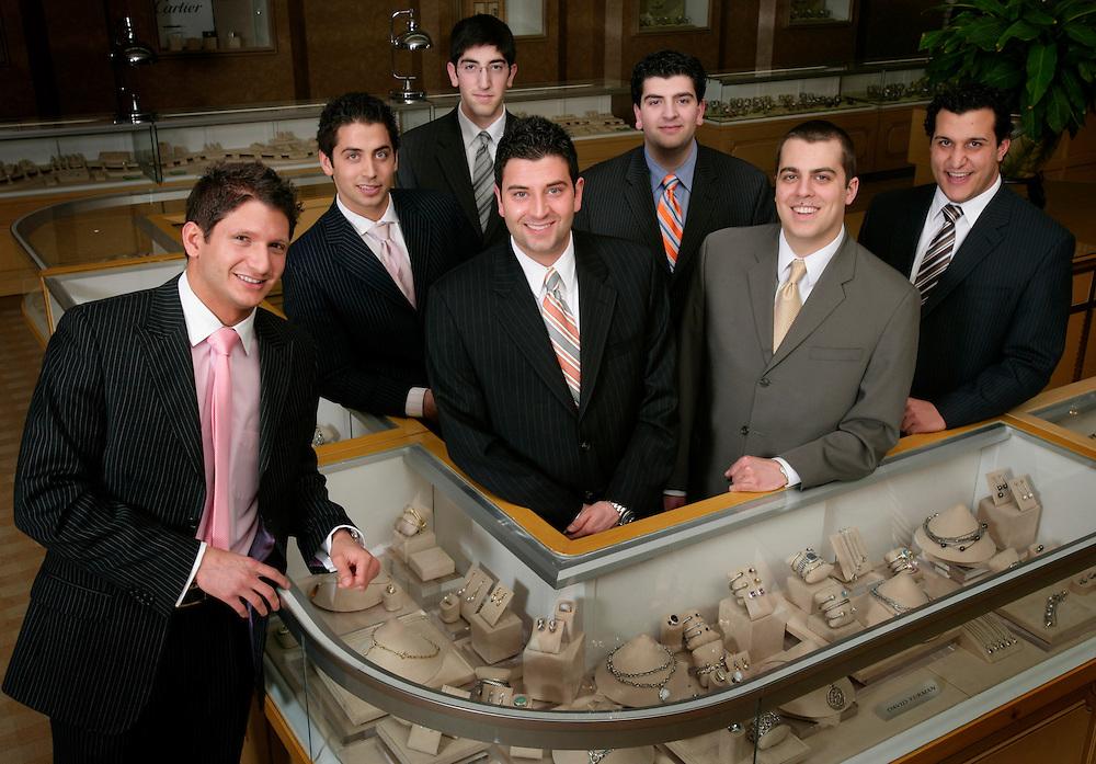 From left: Anthony Ahee, Christopher Ahee, Andre Ahee,  Eddie Ahee, , Niko Ahee and Lowell Ahee, Jr., and Jonathan Thomas.