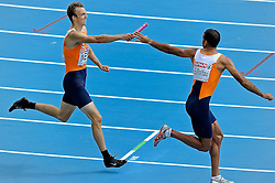 31.07.2010, Olympic Stadium, Barcelona, ESP, European Athletics Championships Barcelona 2010, im Bild Joeri Moerman and Youssef  El Rhalfioui competes as a first and second Dutch athletes during the 4x400m Men Relay Heats . GER EXPA Pictures © 2010, PhotoCredit: EXPA/ nph/ . Ronald Hoogendoorn+++++ ATTENTION - OUT OF GER +++++