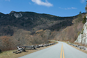 Country road, leading through Blue Ridge Mountains. Virginia. United States of America.