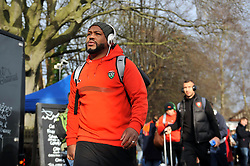 Steffon Armitage of Toulon arrives at the Recreation Ground - Mandatory byline: Patrick Khachfe/JMP - 07966 386802 - 23/01/2016 - RUGBY UNION - The Recreation Ground - Bath, England - Bath Rugby v RC Toulon - European Rugby Champions Cup.