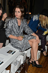 BILLIE JD PORTER at the Gyunel Spring Summer 2015 fashion show as part of London Fashion week 2015 held at Victoria House, Bloomsbury Square, London on 12th September 2014.