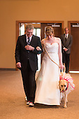 Touching moment a bride was aided by her service dog on her big day