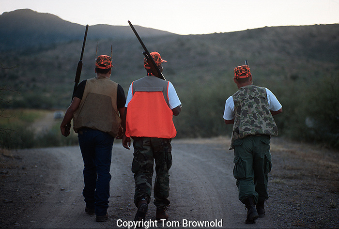 Hunters returning from the hunt