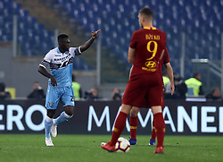 March 2, 2019 - Rome, Lazio, Italy - SS Lazio v As Roma : Serie A.Felipe Caicedo of Lazio celebrates after the goal of 1-0 scored at Olimpico Stadium in Rome, Italy on March 2, 2019. (Credit Image: © Matteo Ciambelli/NurPhoto via ZUMA Press)