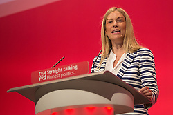 © Licensed to London News Pictures . 28/09/2015 . Brighton , UK . ELLIE REEVES speaks at the 2015 Labour Party Conference . Photo credit : Joel Goodman/LNP