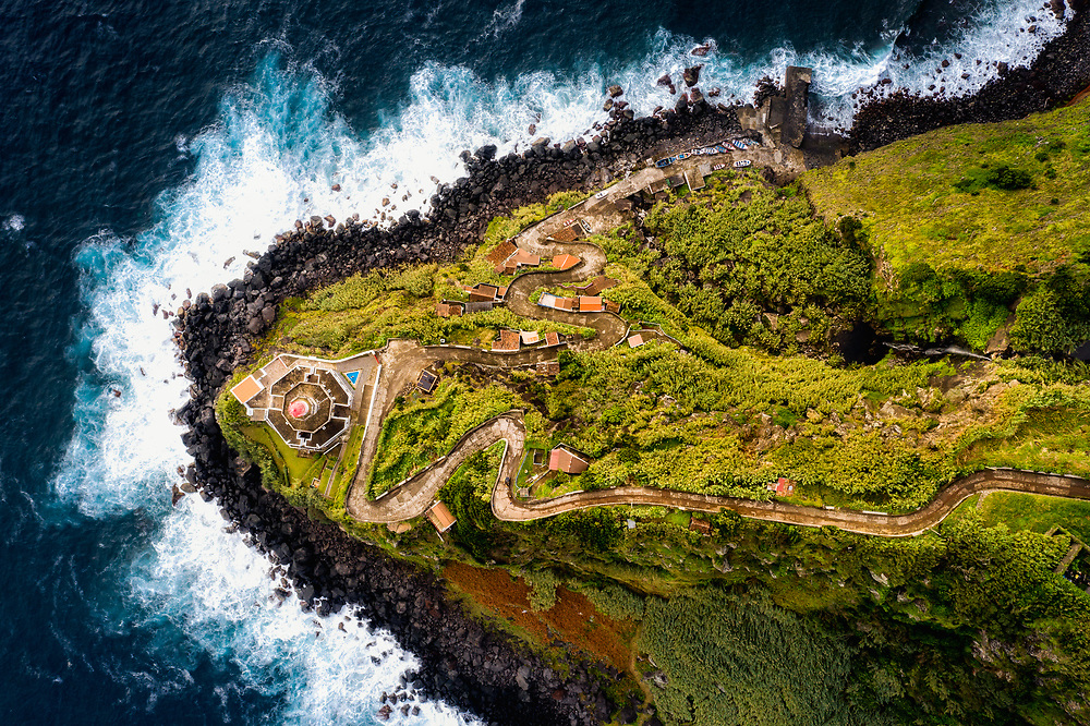 Lighthouse Arnel at Sao Miguel Island, Azores
