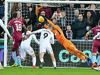 Football - 2018 / 2019 Championship - Swansea City vs Aston Villa<br /> … at the Liberty Stadium.<br /> <br /> Orjan Nyland of Aston Villa saves in the 13th minute <br /> <br /> Credit: COLORSPORT/Winston Bynorth