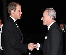 OCT 17 2012 Duke of Cambridge arriving at charity dinner in London
